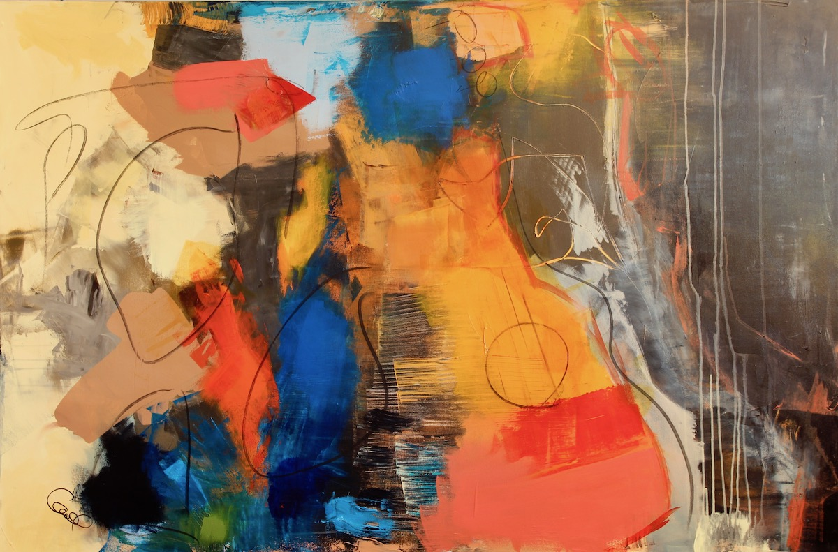 Passion musicale - 40 x 60. 1560$.
